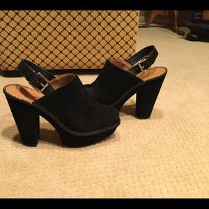 New Michael Kors black leather suede shoes size 6